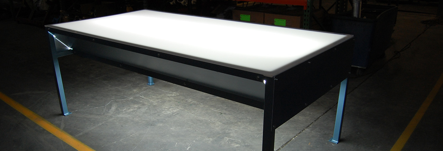 Lighted Inspection Tables