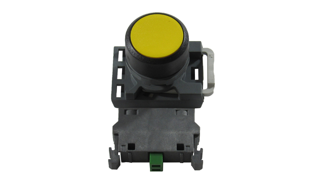 PUSHBUTTON ASSEMBLY YELLOW N/O CONTACT