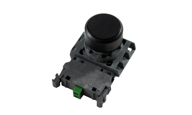 PUSHBUTTON ASSEMBLY BLACK N/O CONTACT