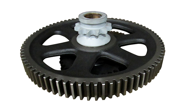 GEAR HERRINGBONE CONVERSION 80T GEAR W/12T SPRKT & W/D 35T SPROCKET,  BRASS BUSHING