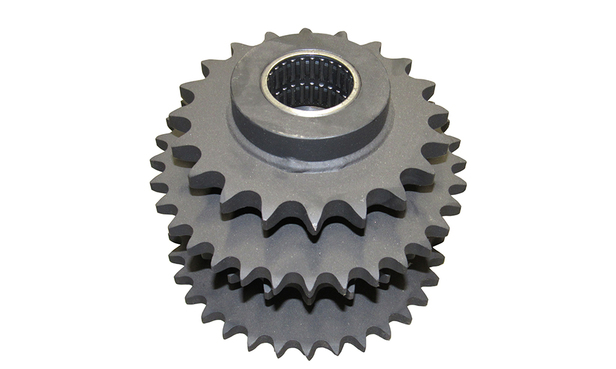 SPROCKET CLUSTER, 2 33T #60 & 2 20T #80 CHAIN