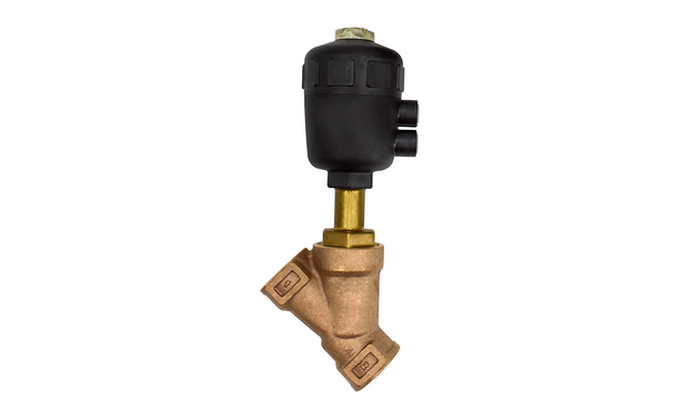 "1.25"" NPT BRONZE N/C STEAM VALVE ANGLE BODY"
