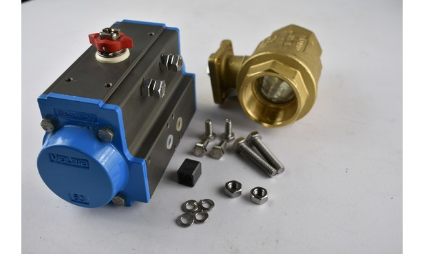 BALL VALVE ACTUATOR ASSEMBLY WITH SPRING SET