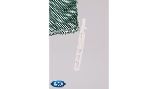 Net Bag - Rubber 3 Hole Closure - Green