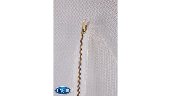 Net Bag - Zipper - White