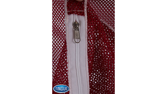 Net Bag - Zipper with Slider Tab - Red